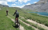 Tour dell'Oronaye in Mountain Bike. Foto A. Gerthoux