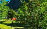 Campeggio ai piedi della Rocca Provenzale. Foto A. Gerthoux